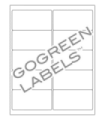 """4"""" x 2"""" GoGreen  Labels - FSC Certified White Uncoated Matte Paper with Permanent Adhesive"""