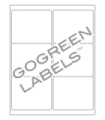 """4"""" x 3.33"""" GoGreen  Labels - FSC Certified White Uncoated Matte Paper with Permanent Adhesive"""