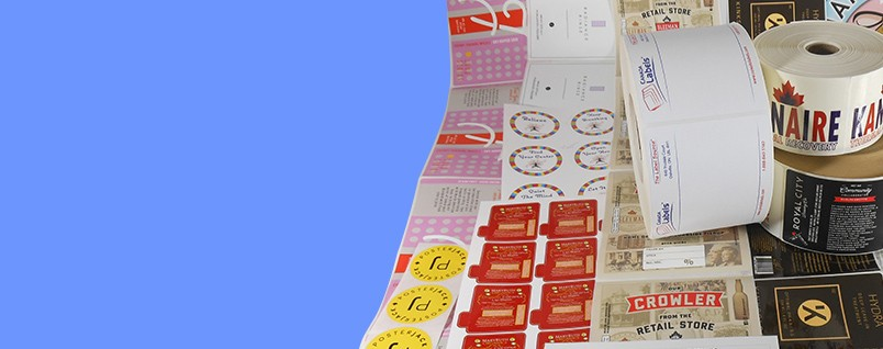 Custom printed labels and stickers